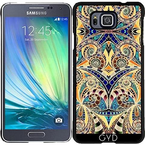 Coque pour Samsung Galaxy Alpha - G7 Dessin Floral Zentangle by Medusa GraphicArt
