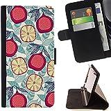 Momo Phone Case / Flip Funda de Cuero Case Cover - Pomegranate Pear Fruit Nature Art - Apple Iphone 6