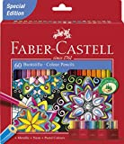 Faber-Castell 111260 Buntstifte Castle, 60 hexagonale Farbstifte im Kartonetui (2er Pack)