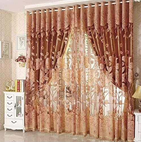 Tende Per Porta Finestra Camera Da Letto.Diossad Tulle Voile Porta Finestra Tenda Marrone Drape Panel Sheer