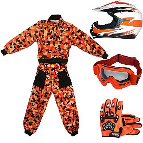 Leopard-LEO-X16-Casco-da-Motocross-per-Bambini-Off-road-ECE-22-05-Approvato-Occhiali-Guanti-Tuta-da-Motocross-per-Bambini