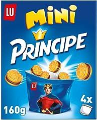 Príncipe Galletas Rellenas Mini de Chocolate con Leche, 4 Bolsitas, 160g