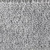 Teppichboden Auslegware Meterware Velour meliert grau 400 cm und 500 cm breit, verschiedene Längen