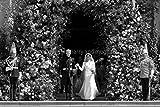 Andy Evans Photos Meghan markle zum Hochzeitstag, Prince Harry Harry, Fotodruck mit Schloss Windsor Berkshire, Großbritannien, Schwarz/Weiß, Kunstdruck, multi, 30,5 x 20,3 cm