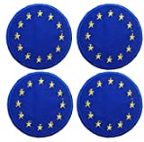 Cute Europa Union Flagge Set Eisen auf Sew auf Patch Badge Aufnäher Motiv bestickt