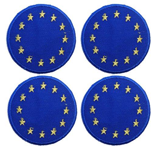 Cute Europa Union Flagge Set Eisen auf Sew auf Patch Badge Aufnäher Motiv bestickt (Jeans Custom Jacke)