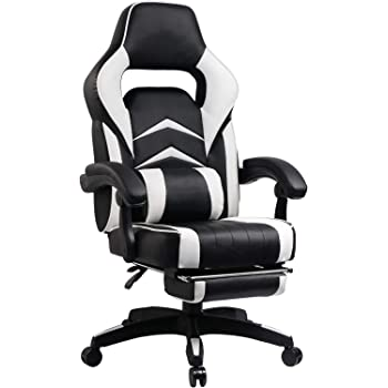 UMI. Essentials Gaming Chair Racing Chair Ergonomic Computer Office Chair With Padded Footrest