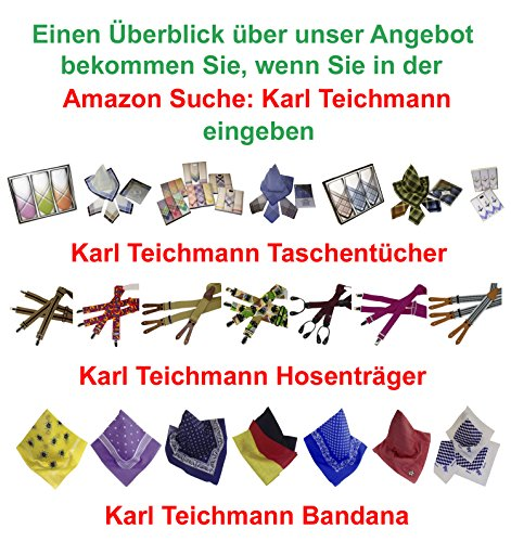 10 feinfädige Herren Stoff-Taschentücher sortiert in verschiedenen Designs - 2