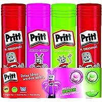 Pritt PK6MR Klebestift Mix 2 Originalsticks 22 g, 1 grüner und pinker 20 g stärkster Europas, Virtual Bundle