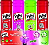 Pritt Klebestift Mix Pack / 2 Pritt Stifte Original, 1 Klebestift Grün, 1...