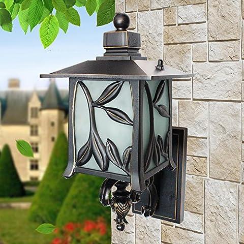 GHT.A Continental minimalista Retro Waterproof impermeable balcón terraza apliques de luz Lámpara Bedroom Wc Lámpara de Pared restaurante antes de Luz del espejo, pequeño