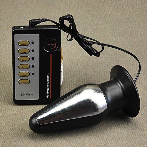 Genmine® Elektrischer Anal Plug Set 52 mm und 130 mm Anal Kugel Butt Plug Stimulation mit Fernbedienung für Frauen, Männer, Paare