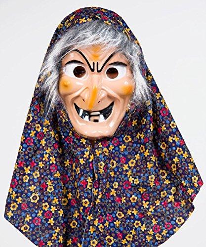 Kostüm Haar Hexe - Festartikel Müller Kostüm Zubehör Maske Hexe Hexenmaske Kopftuch Haar Karneval Fasching