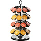360 Degree Rotating Coffee Capsules Holder Coffee Pod Stand for max 36Pcs K-CUP/Dolce Gusto/Caffitaly Capsules