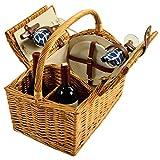 Best Picnic at Ascot Picnic Blankets - Picnic at Ascot Vineyard Willow Picnic Basket, Natural/Trellis Review