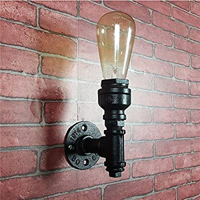 Loft Style Iron Water Pipe Porch Wall Sconce Lamp Wall Lights Fixture by Jorunhe