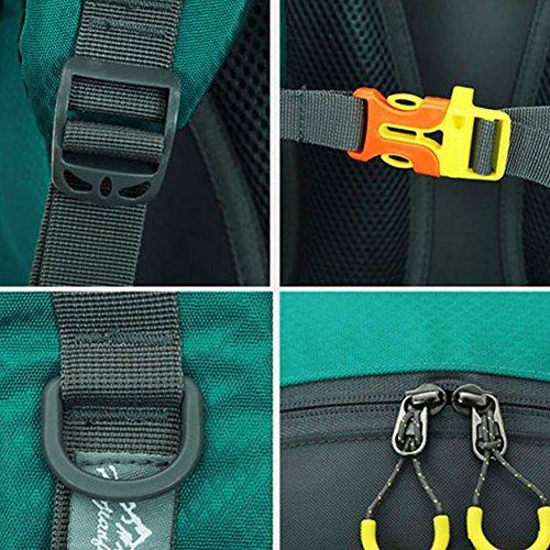 Impermeabile sport all' aperto zaino Zaino da escursionismo arrampicata zaino borsa sportiva campeggio Backpackday pacchetto per Backpacking pesca sci ciclismo 50L, Orange Blue
