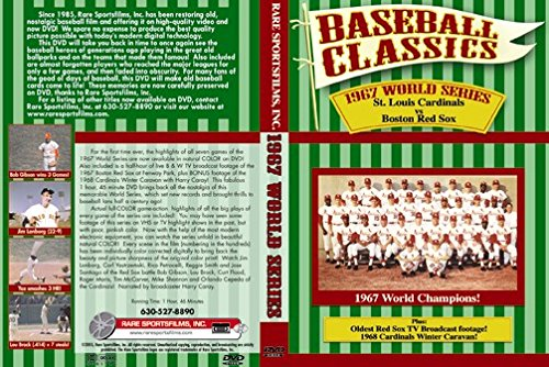 1967 WORLD SERIES (Boston Red Sox vs St. Louis Cardinals) plus 1967 Red Sox highlights and 1068 Cardinals Winter Caravan with Harry Caray on DVD! Louis Cardinals Video