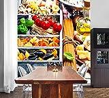 Selbstklebende Fototapete - Italienische Pasta - 100x130 cm - Tapete mit Kleber – Wandtapete – Poster – Dekoration – Wandbild – Wandposter – Wand – Fotofolie – Bild – Wandbilder - Wanddeko