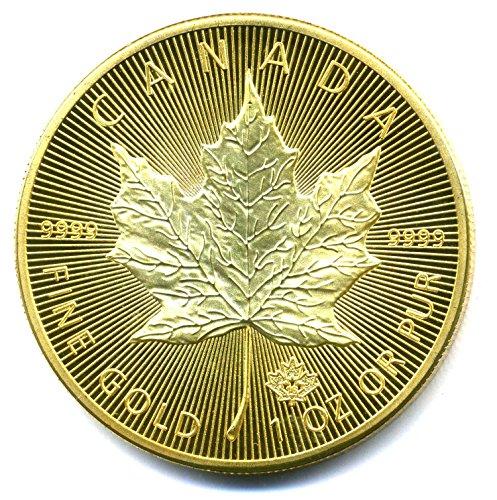 Preisvergleich Produktbild Maple Leaf 1 OZ Fine Elisabeth II - CANADA 2016 - 50 Dollars - Feingold plated - Replica