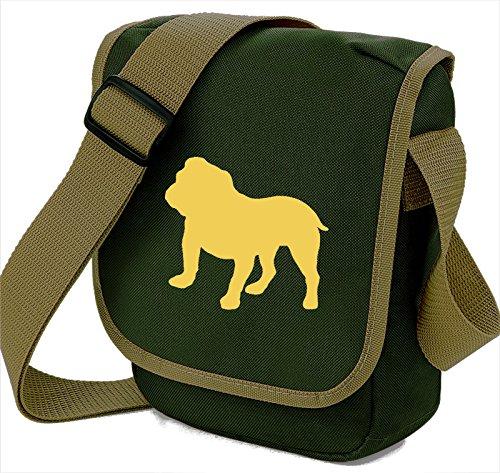 Borsa A Tracolla, Borsa A Tracolla Per Adulto Unisex Fawn Dog On Olive Bag
