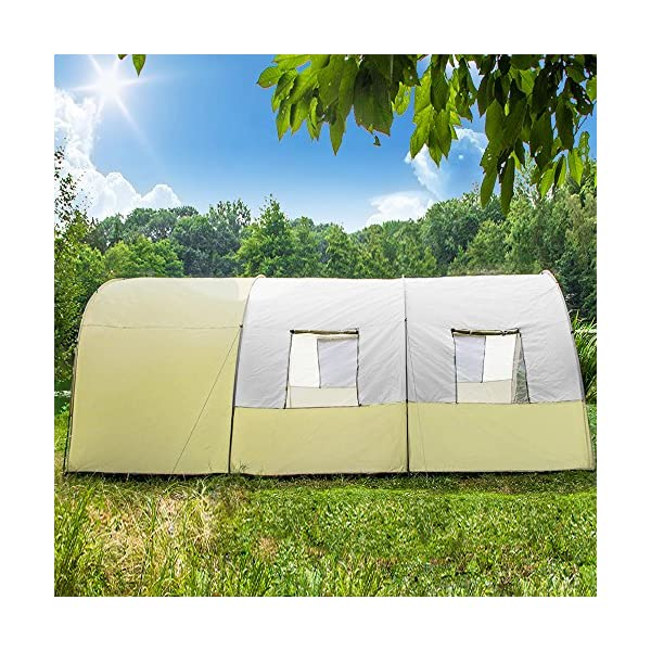 TecTake 800588 XXL Camping Tunnel Tent with Foyer 4-6 persons 5