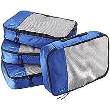 AmazonBasics 4-Piece Packing Cube Set - Medium, Blue