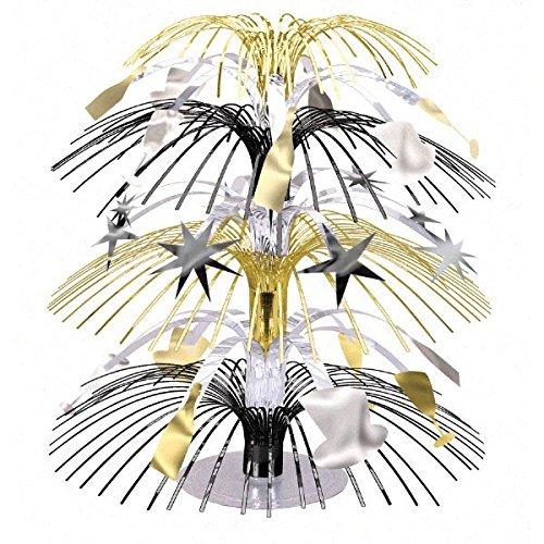 Amscan 21,6cm/26cm Mini Cascade Mittelpunkt, schwarz/silber/gold
