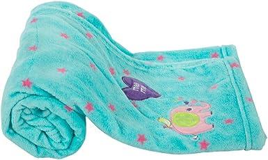Mee Mee Multipurpose Soft Baby Blanket, Elephant, Light Blue