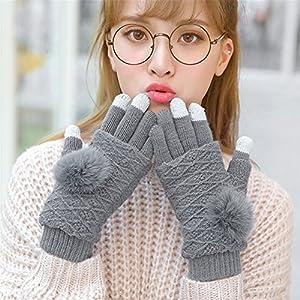 61Zg3Pcm8NL. SS300  - Qearly Multi-functional Lovely Women Gloves Winter Mittens Winter Gloves-Deep Gray