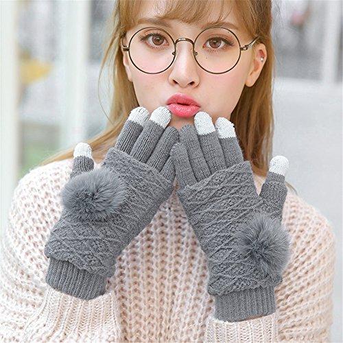 61Zg3Pcm8NL. SS500  - Qearly Multi-functional Lovely Women Gloves Winter Mittens Winter Gloves-Deep Gray
