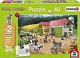 Schmidt Spiele Puzzle 56189 - Schleich Ein Tag auf Dem Bauernhof, 40 Teile
