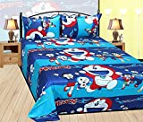 #4: Doraemon Kids Cartoon Double Bedsheets with 2 pillow Covers