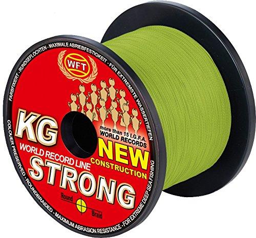 WFT KG Strong 600m 0,22mm 32kg, Geflochtene Schnur, Meeresschnur, Angelschnur, Geflechtschnur, Farbe:Gelb
