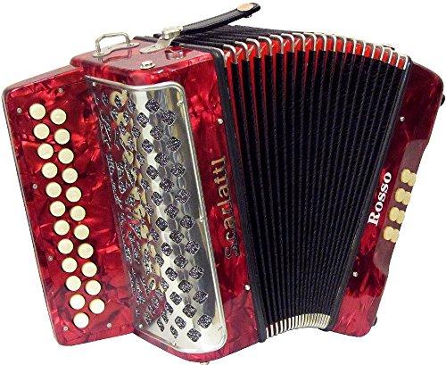 Scarlatti Rosso B-C Melodeon/Akkordeon
