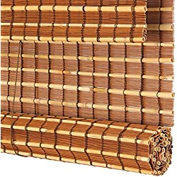 JZDCSCDNS-lian Persiana Estores de bambú Persiana Enrollable Romanas, Sombreado Protector Solar Adecuado para balcón de salón de té. 2 Colores, Tamaño Personalizable,A,W50xH150cm
