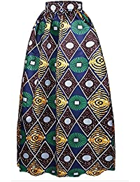 b4a935815b88 Afibi Donne Africano Stampato Casuale Maxi Gonna Flared Gonna MULTISIZE Una  Linea Gonna (S-