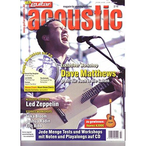 guitar acoustic 2 2010 mit CD - Dave Matthews - Interviews - Akustikgitarre Workshops - Akustikgitarre Playalongs - Akustikgitarre Test und Technik - Akustikgitarre Noten