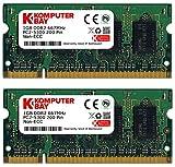 Komputerbay 2GB (2x 1GB) DDR2 667MHz PC2-5300 PC2-5400 (200 PIN) SODIMM Laptop Speicher mit Samsung Halbleiter