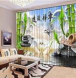 Waple HD 3-D-Drucken Vorhänge Lebensechte Visuelle Genuss Schlafzimmer Wohnzimmer Sonnenschutz Fenster String Vorhang 260X400CM