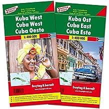Kuba West und Ost, Autokarten Set 1:400.000 (freytag & berndt Auto + Freizeitkarten)