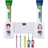Distributeur automatique de dentifrice SUNNZO Q5 avec 5 porte-brosses à dents, pour adultes et enfants, blanc