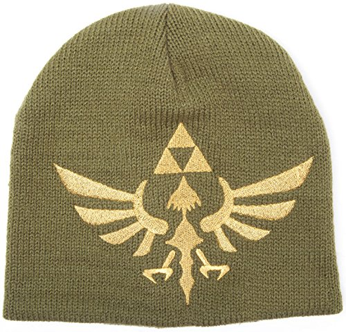 Zelda Beanie Triforce Logo The Legend Of Zelda Nintendo Mütze Cap Strickmütze