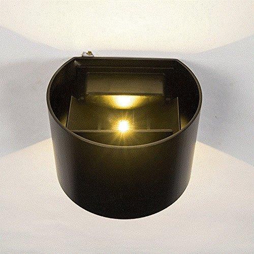 Oudan LED Applique Extérieure Chevet Imperméable Chambre Salon Salon Allée Extérieure Balcon Escalier Cour, Noir-Chaud Lumière Blanche 7W