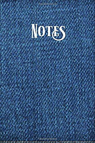 Notes: Lined Journal Blue Denim Casual Blank Notebook  for Men or Women (Blank Denim-denim)