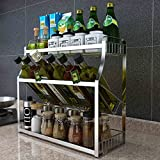 Yxx max Regal Küche Küchenregale Edelstahlregal Doppelregal Rack Küchengeräte Flaschenregal (Größe : B)