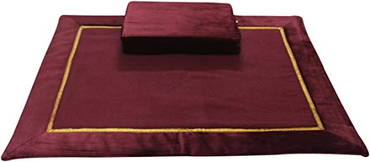 Friends of Meditation ® 10MM Woolen Meditation and Yoga Mat with Silk Border