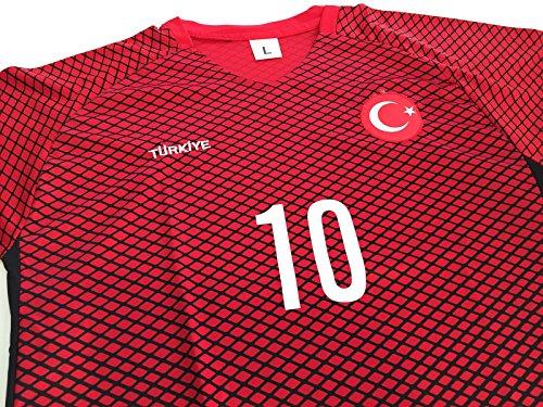 ANKA® Türkei Türkiye Fussball Herren T-Shirt Trikot Fußball EM 2016 (M)