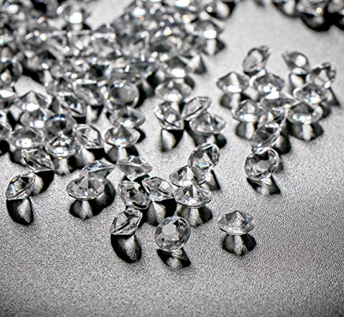 10000Stk Deko-Diamanten 6mm Farblos Absofine Diamantkristalle Transparent Kristall Dekosteine Tischdeko Diamanten Streudeko Hochzeit Dekoration (Günstige Tischläufer Für Hochzeit)
