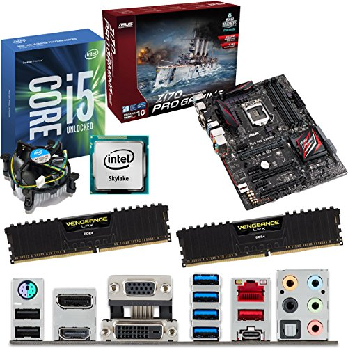Deals For INTEL Skylake Core i5 6600K 3.5Ghz CPU, ASUS Z170 Pro Gaming Motherboard & 16GB 3200Mhz DDR4 Corsair Vengeance LPX RAM Pre-Built Bundle